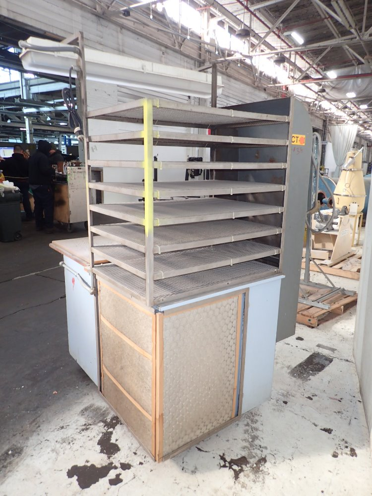 Portable Downdraft Bench : Used portable downdraft bench hgr industrial surplus