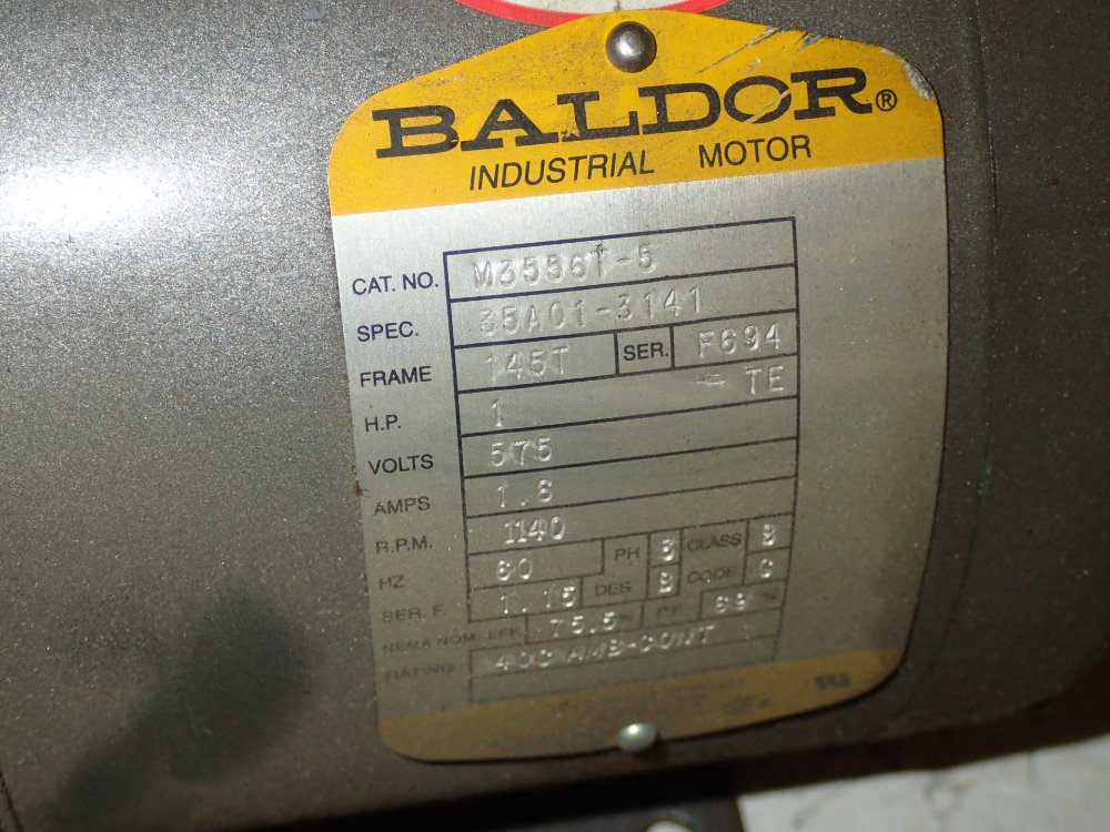 used baldor motor hgr industrial surplus
