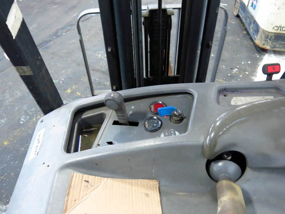 how to drive a crown stand up forklift