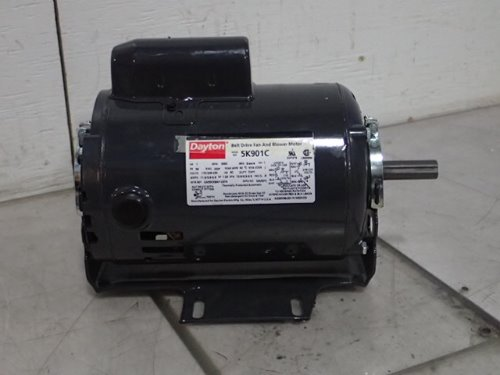 Dayton 5k901c belt drive fan blower motor 1 hp 1 phase for 20 hp single phase motor