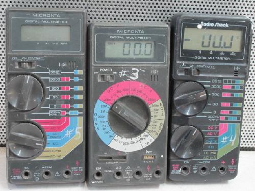 Radio Shack Multimeter : Radio shack micronta digital multimeters lot ebay