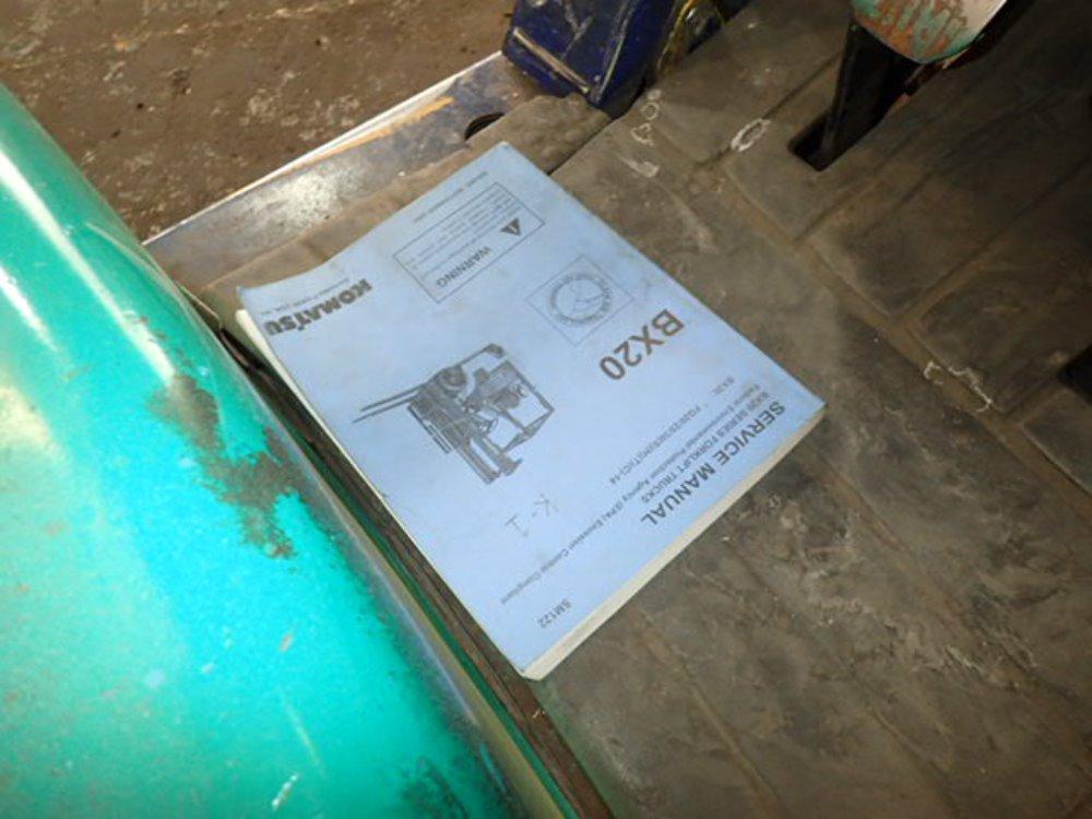 Komatsu Forklift fg15st 16 manual