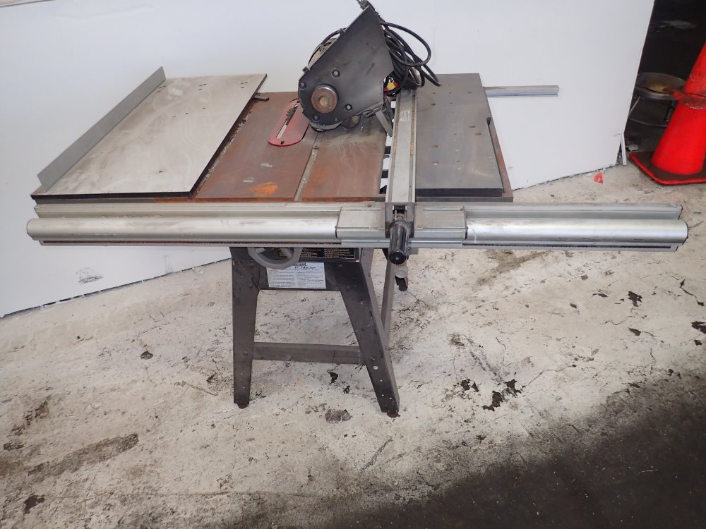 Used central pneumatic table saw hgr industrial surplus Used table saw