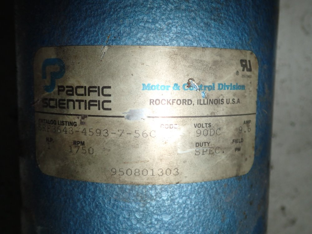 Used Pacific Scientific Dc Motor Hgr Industrial Surplus