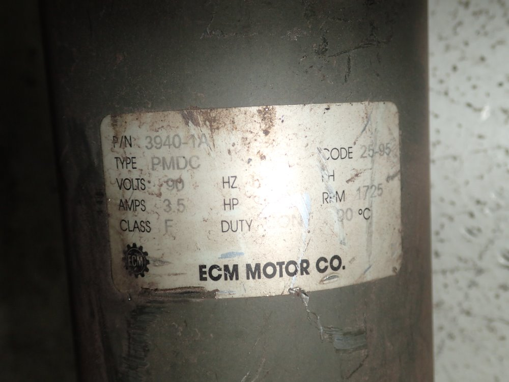Used Ecm Dc Motor Hgr Industrial Surplus