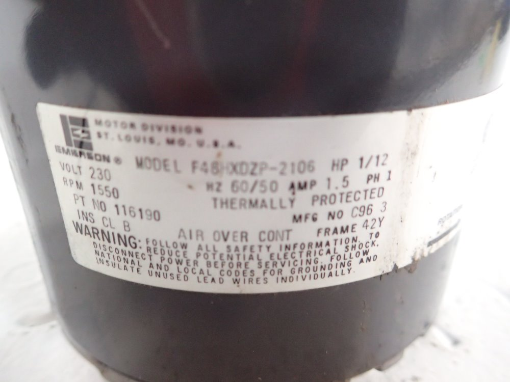 Used Emerson Motor | HGR Industrial Surplus