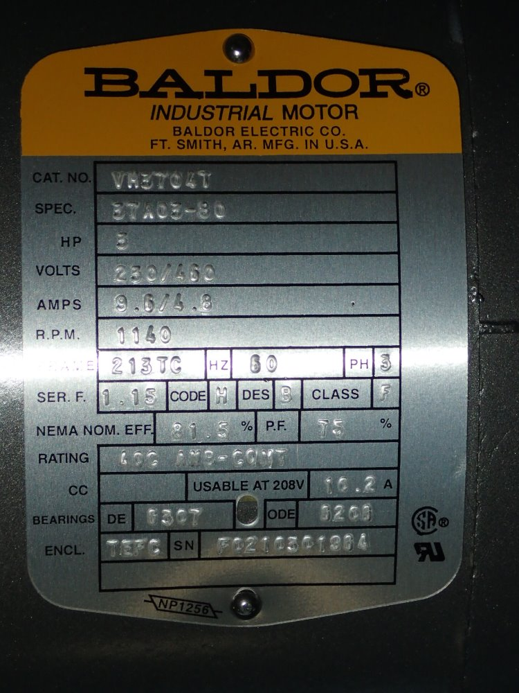 Motor baldor for Baldor motor serial number lookup