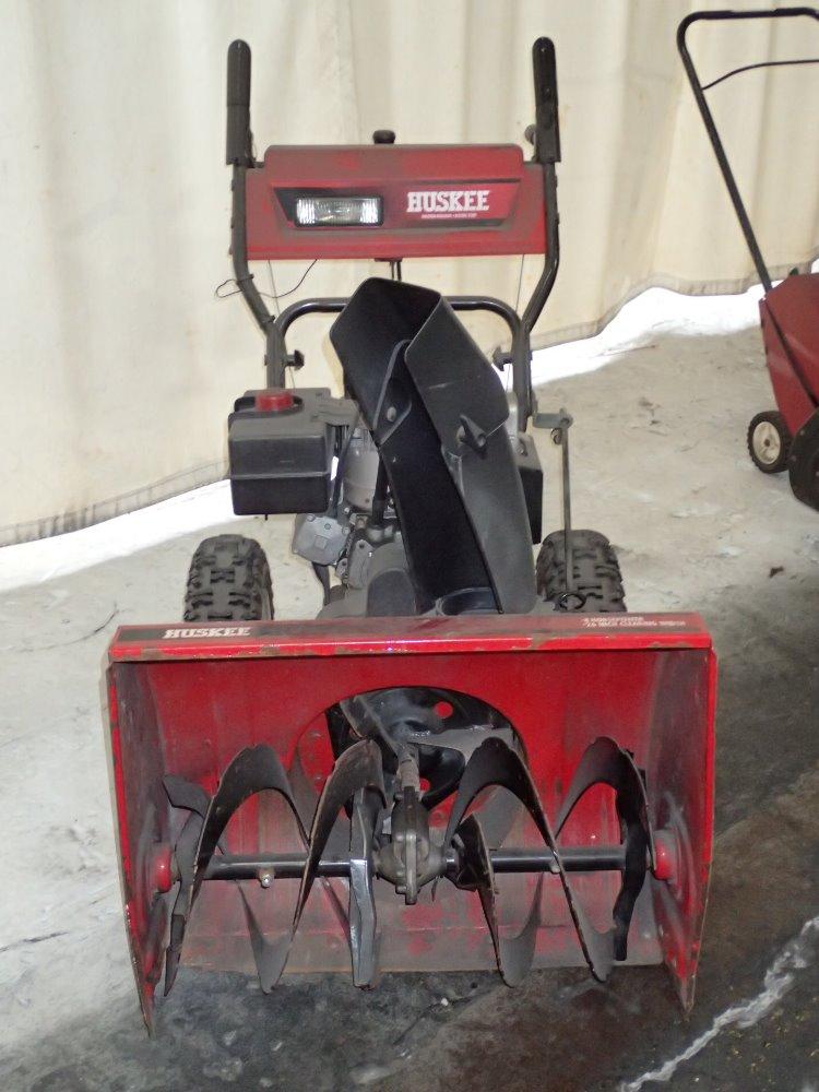Industrial Snow Thrower : Used huskee gas snow blower hgr industrial surplus