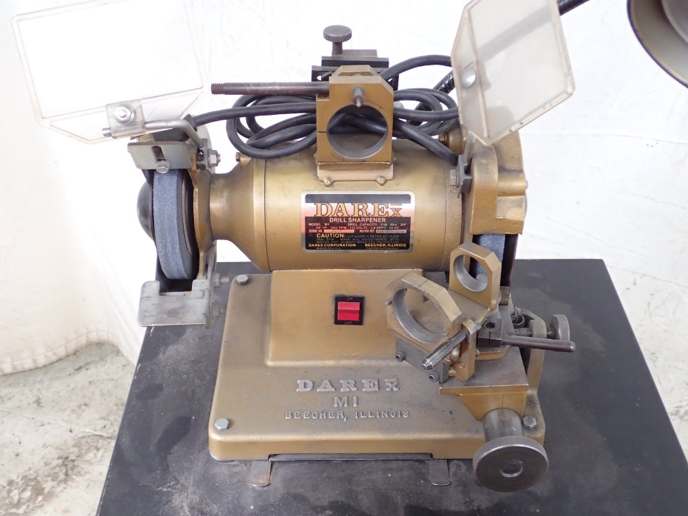 how to use a darex drill sharpener
