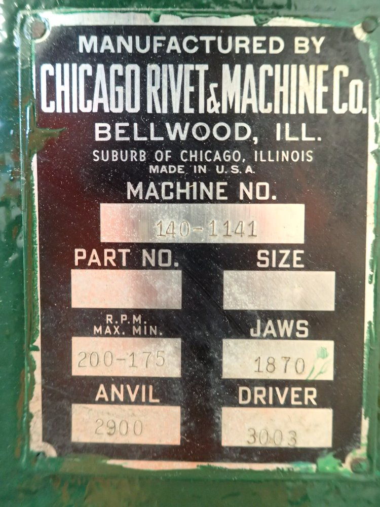 chicago rivet and machine company
