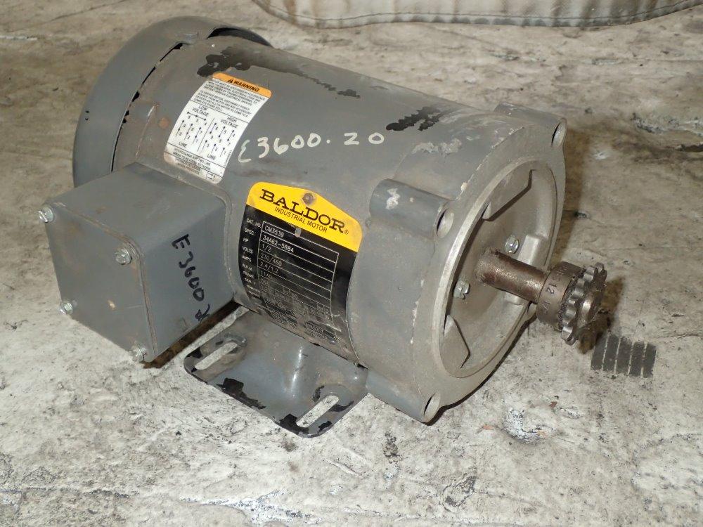 Used Baldor Motor Hgr Industrial Surplus