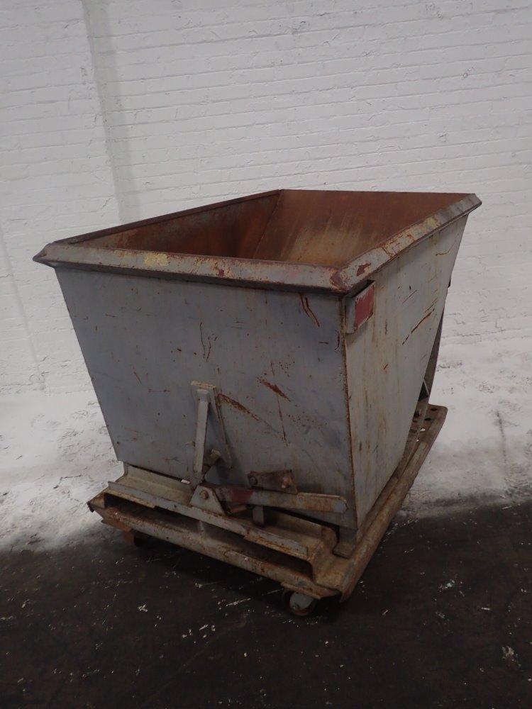 Portable Self Dumping Hoppers : Used portable self dumping hopper hgr industrial surplus
