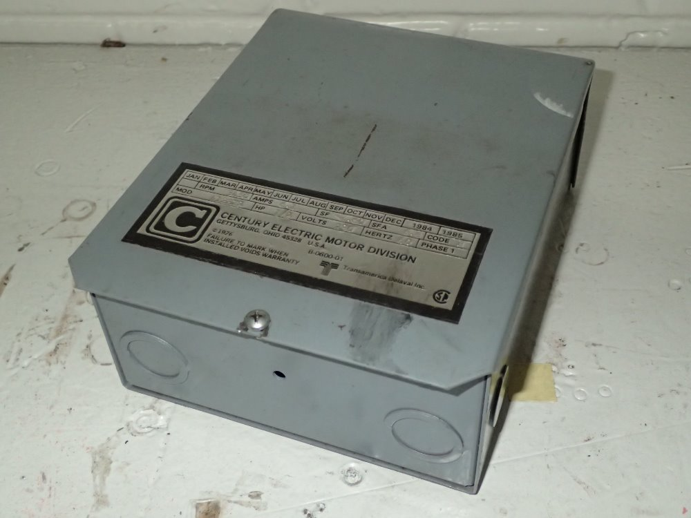 used century electric motor control hgr industrial surplus