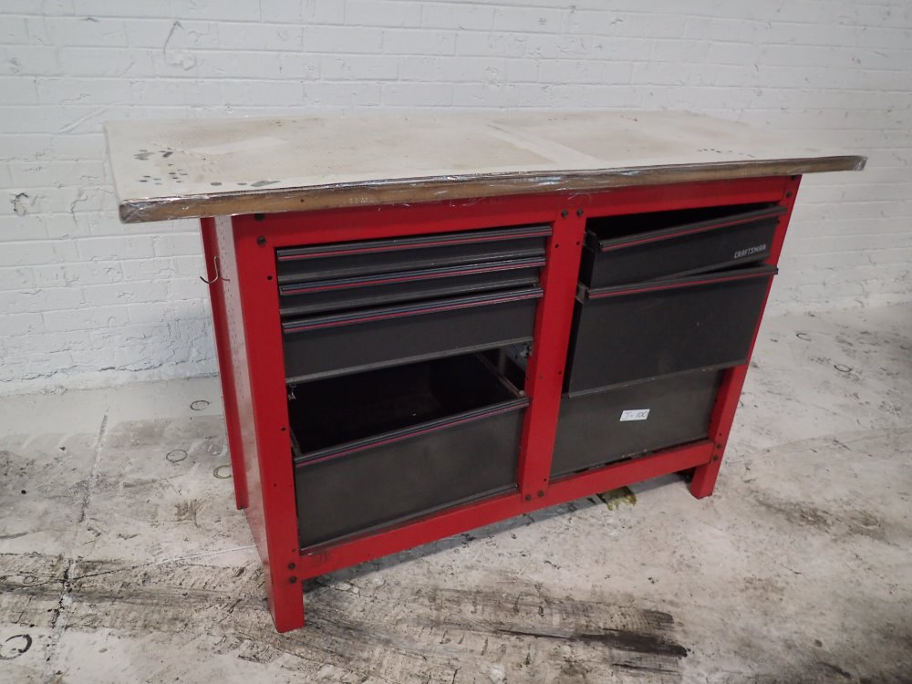 Used Craftsman Tool Cabinet Workbench Hgr Industrial