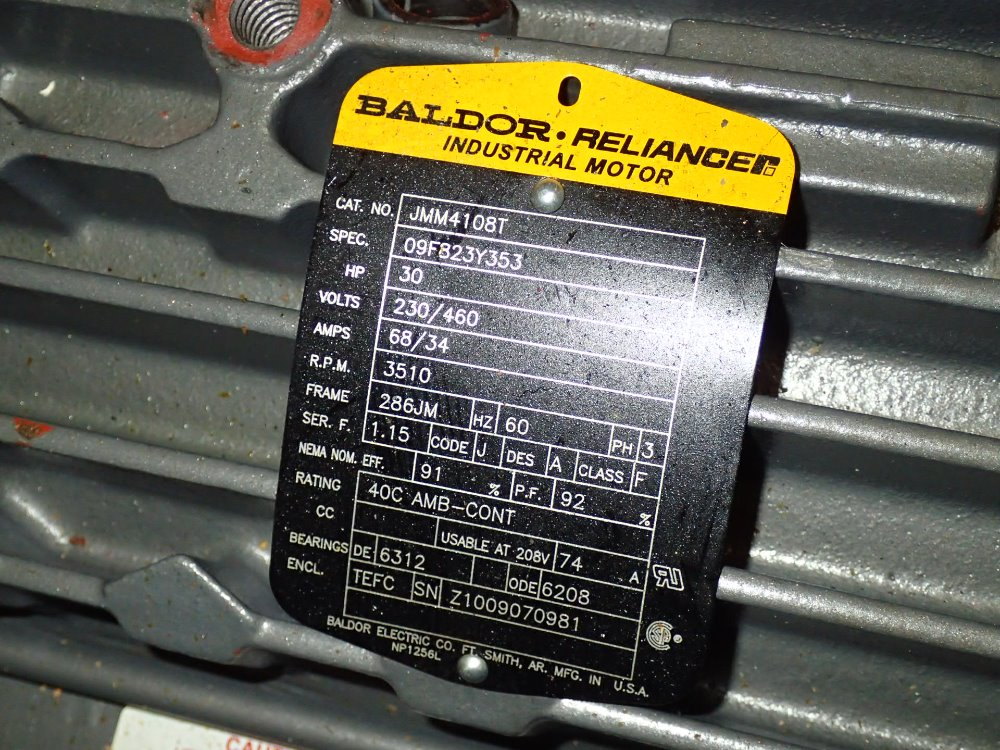 used baldor reliance motor hgr industrial surplus