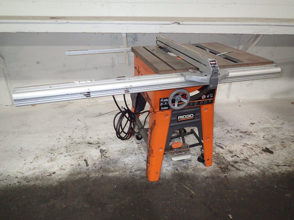 Ridgid ts3650 portable table saw 10 39 39 11160100002 ebay for 12 inch ridgid table saw
