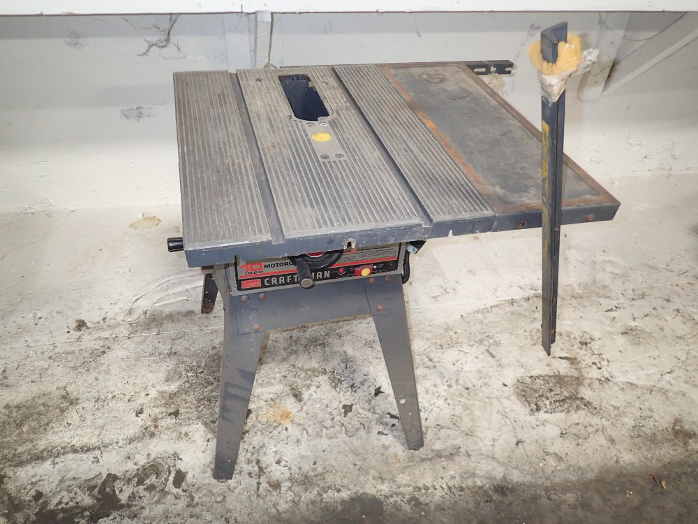 Used sears craftsman table saw hgr industrial surplus Used table saw