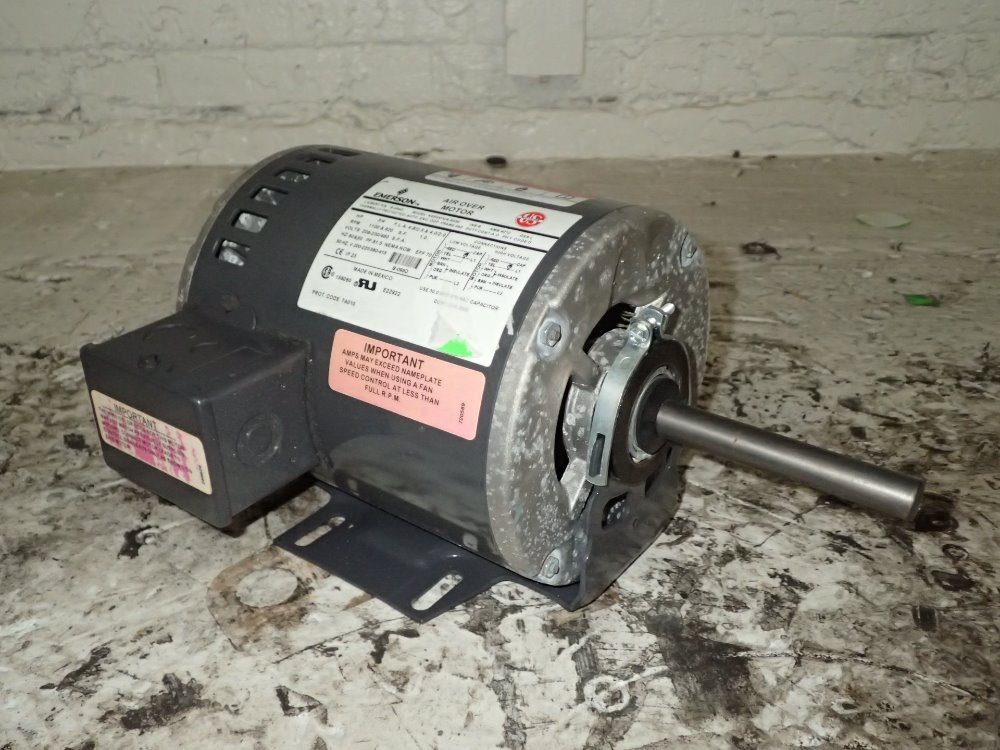 Used emerson motor hgr industrial surplus for Emerson electric motor model numbers