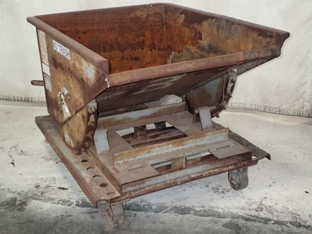 Portable Self Dumping Hoppers : Used meco portable self dumping hopper hgr industrial