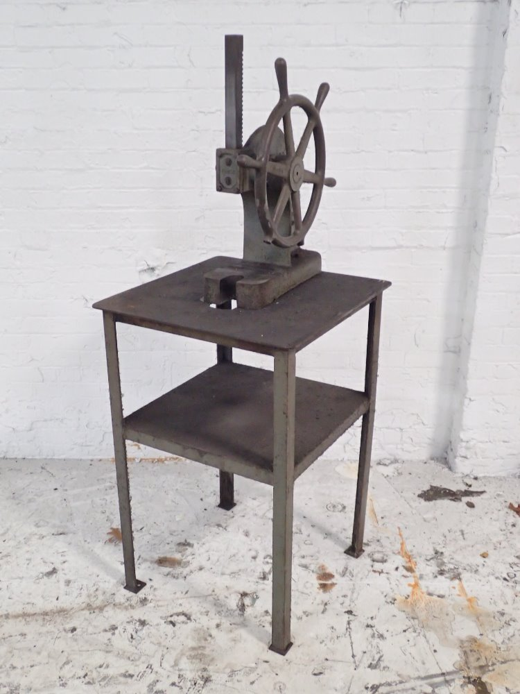 Used famco arbor press w stand hgr industrial surplus for Fabrication stand