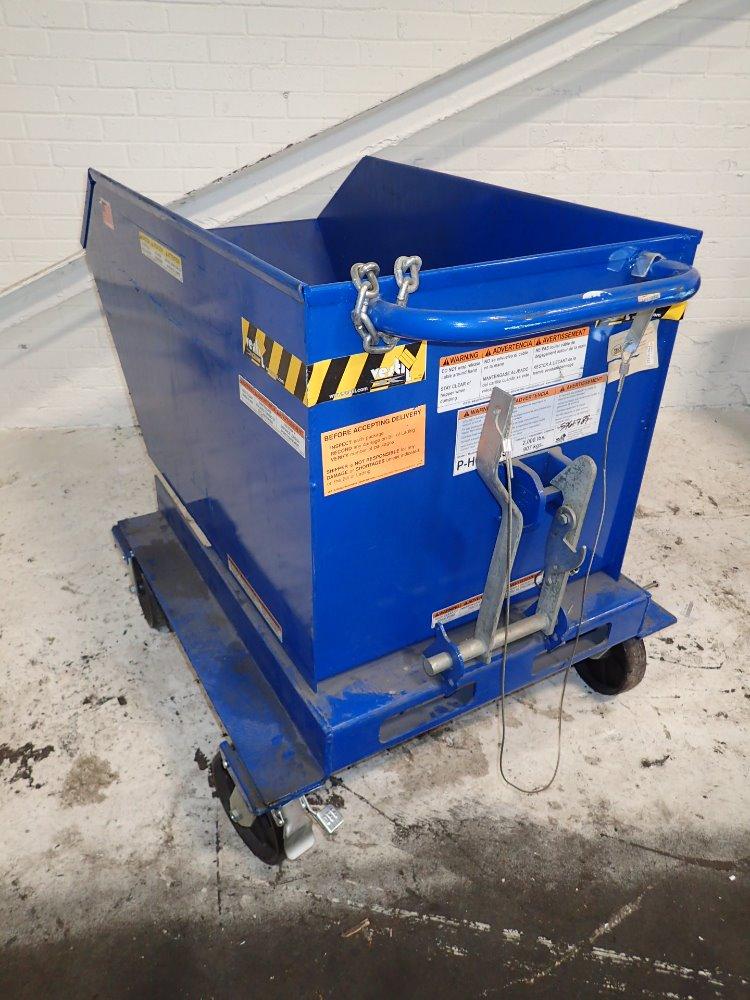 Portable Self Dumping Hoppers : Used vestil portable self dumping hopper hgr industrial