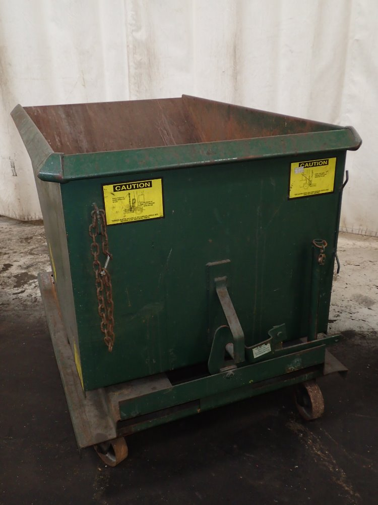Portable Self Dumping Hoppers : Used jesco portable self dumping hopper hgr industrial