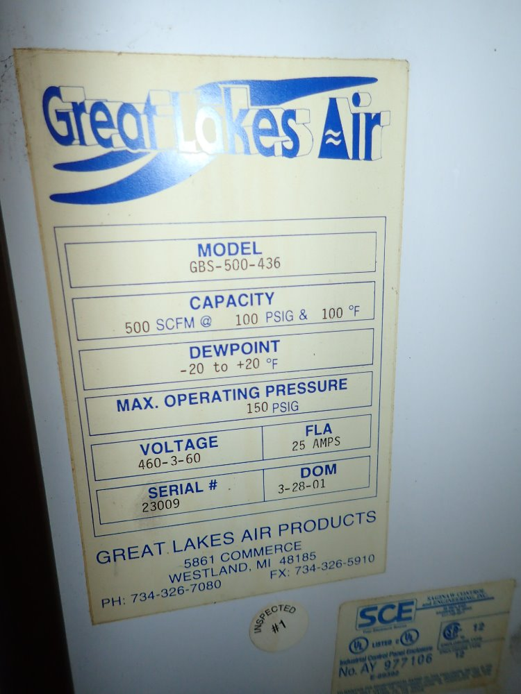 great lakes air dryer manual
