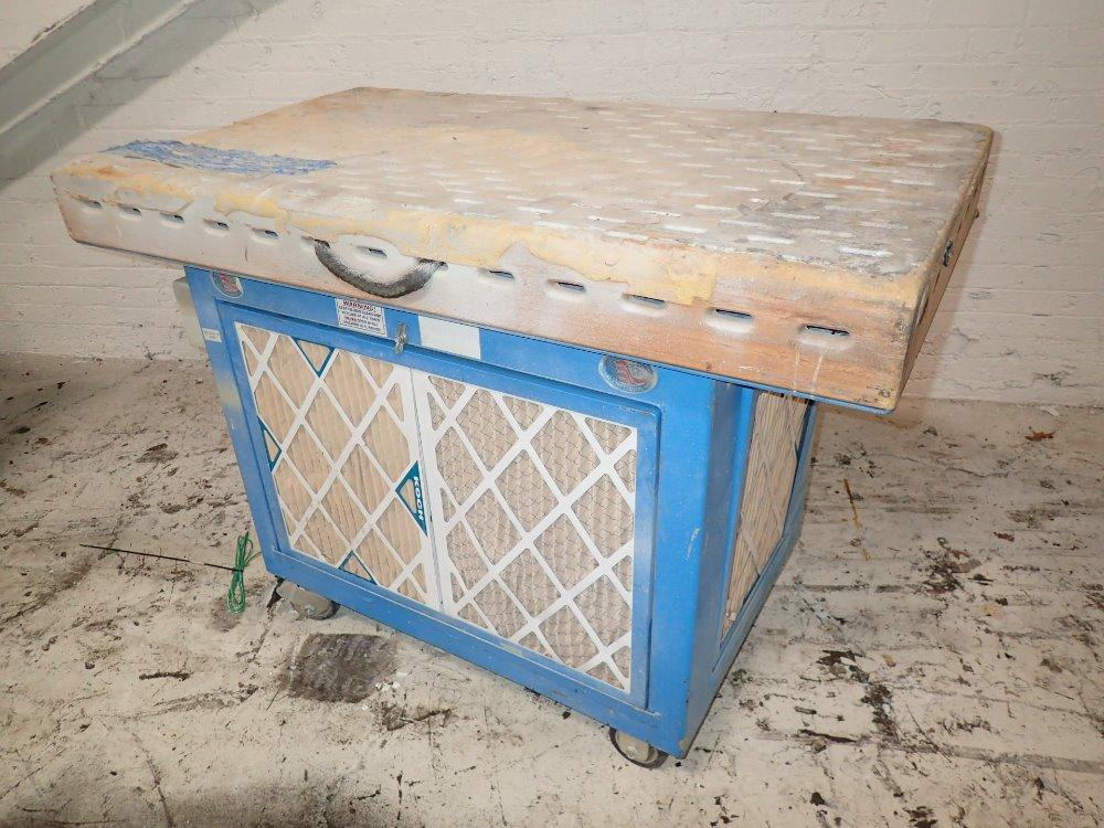 Portable Downdraft Bench : Used portable downdraft deburring table hgr industrial